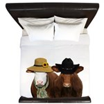 Country Couple King Duvet