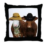 Country Couple Throw Pillow