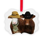 Country Couple Picture Ornament
