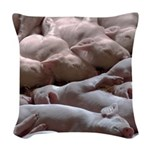 Baby Pigs Woven Throw Pillow