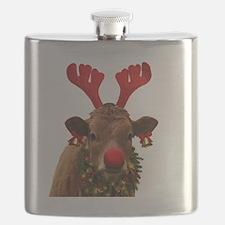 Christmas Cow Flask