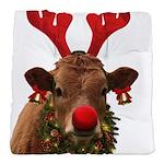 Christmas Cow Tufted Chair Cushion