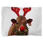 Christmas Cow Pillow Sham