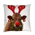 Christmas Cow Everyday Pillow