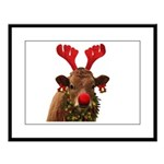 Christmas Cow Large Framed Print