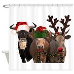 Santa & Friends Shower Curtain