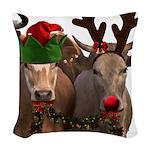 Santa & Friends Woven Throw Pillow