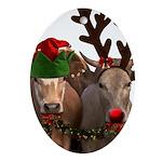 Santa & Friends Oval Ornament