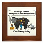 I Bought A Sheep Framed Tile