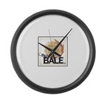 Buy A Bale (Border) Large Wall Clock