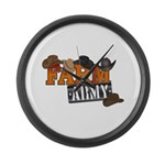 Farm Army Large Wall Clock