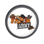 Farm Army Wall Clock
