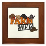 Farm Army Framed Tile