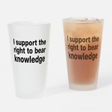 The Right To Bear Knowledge Drinking Glass