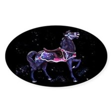 Star Carousel Horse Oval Decal