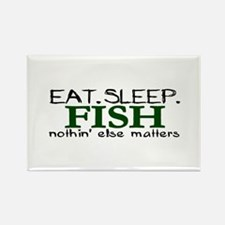 Eat Sleep Fish Rectangle Magnet