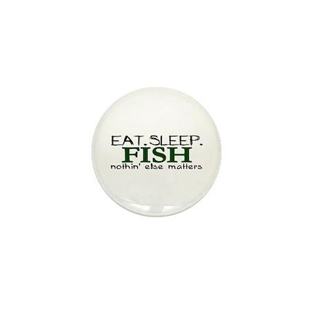 Eat Sleep Fish Mini Button