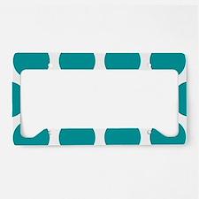 Blue, Teal: Polka Dots Patter License Plate Holder