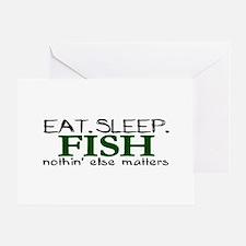Eat Sleep Fish Greeting Card