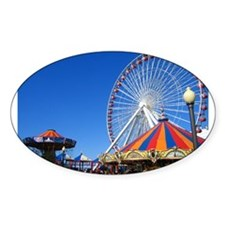 Navy Pier, Chicago Oval Decal