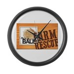 Farm Rescue Large Wall Clock