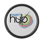 Charity Hub Large Wall Clock