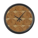 Hay Bale Large Wall Clock