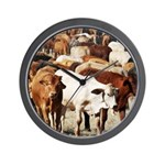 A Herd of Cattle Wall Clock