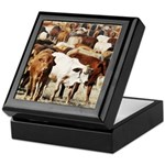A Herd of Cattle Keepsake Box