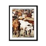 A Herd of Cattle Framed Panel Print