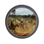 Herding Cattle Wall Clock