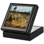 Herding Cattle Keepsake Box