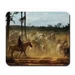 Herding Cattle Mousepad