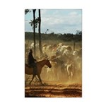 Herding Cattle Mini Poster Print
