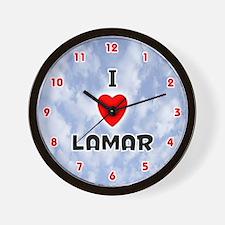 I Love Lamar (Red/Blk) Valentine Wall Clock