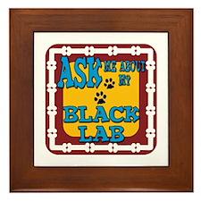 Black Lab Framed Tile