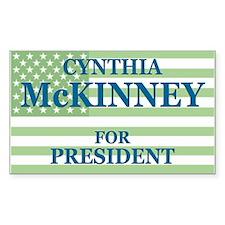 Cynthia McKinney Rectangle Decal