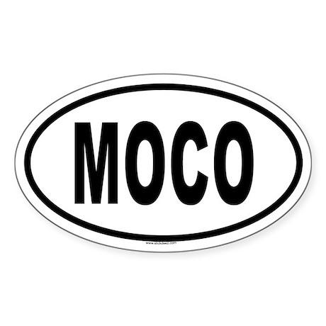 MOCO Oval Sticker