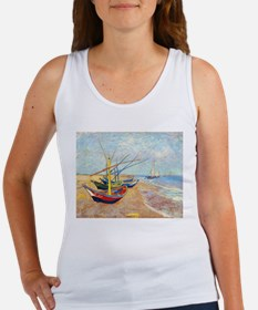 Fishing Boats on the Bea Tank Top