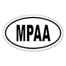 MPAA Oval Decal