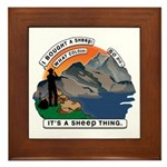 I Bought A Sheep Mountain Framed Tile