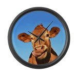 Selfie Cow Large Wall Clock