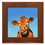 Selfie Cow Framed Tile