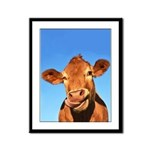Selfie Cow Framed Panel Print