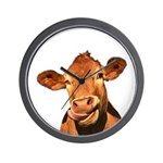 Selfie Cow (Transparent) Wall Clock