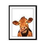 Selfie Cow (Transparent) Framed Panel Print