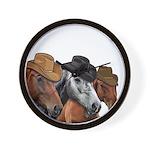 Cowboy Horses Wall Clock