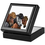 Cowboy Horses Keepsake Box