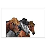 Cowboy Horses Large Poster
