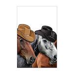 Cowboy Horses Mini Poster Print